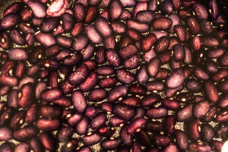 Red beans to soak in a pot to be cooked