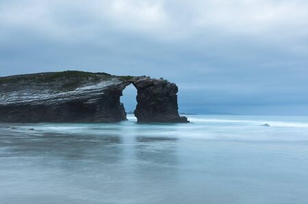 This photo is made in the beach of the cathedrals in Spain
