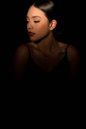 Playing with beauty lighting you get these lights and shadows that look great to illuminate models