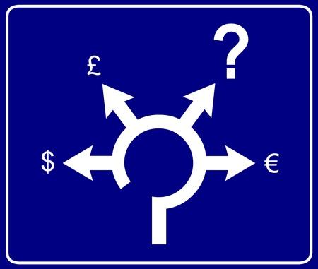 Economical roundabout sign 2 Vector