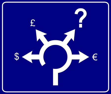 roundabout: Economical roundabout sign 2 Illustration