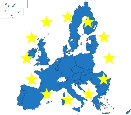 netherlands map: European Union map Illustration