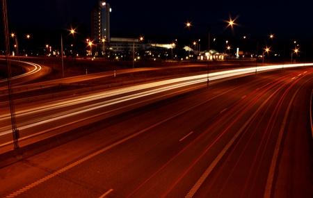 City night highway Stock Photo - 13101661