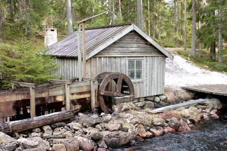 A watermill in the Swedish countryside photo