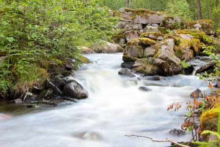 Flowing river in the country photo