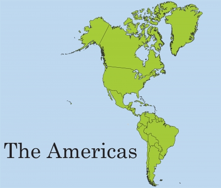 The American continent Vetores