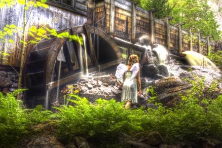 ange gardien: Le moulin � eau tuteur s Angel