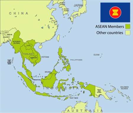 ASEAN organization Vector