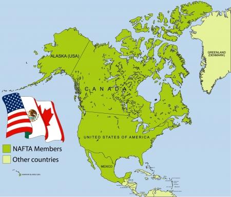 nafta: NAFTA map