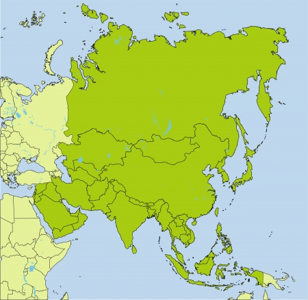 philippines  map: Asian countries