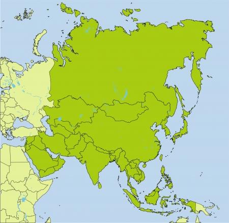 Les pays d'Asie Vecteurs