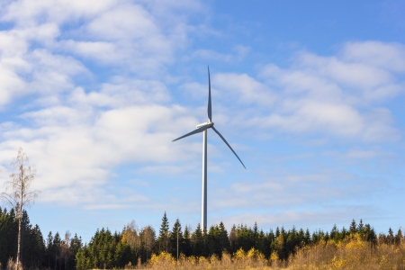 Electric windmill tower generator photo