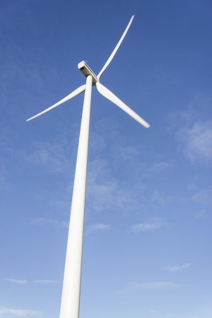 Electric windmill tower generating photo