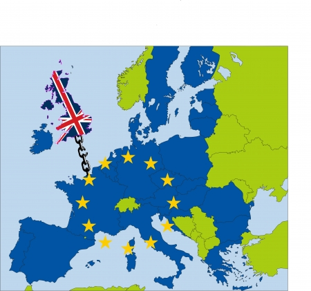 UK drifting from EU Vector