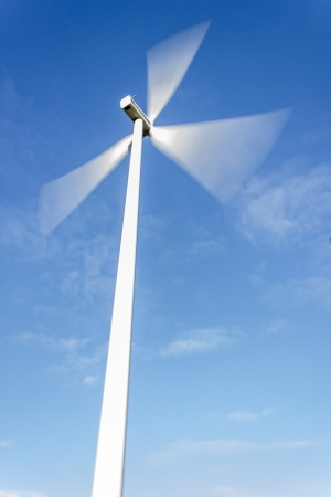 Electric windmill generating power photo