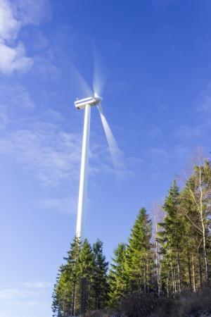 rotative: Electric windmill power generator Stock Photo