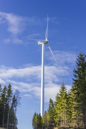Windmill electric power generator photo
