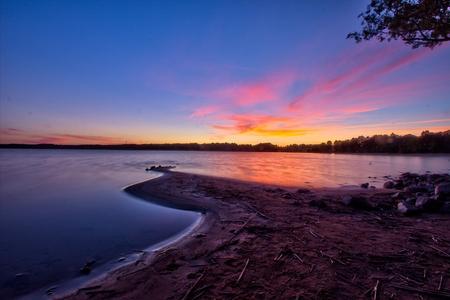 stern: Dusk by Vid�stern lake in Sweden Stock Photo