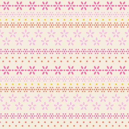 grahic: seamless floral lace grahic line on latte background, vector illustration