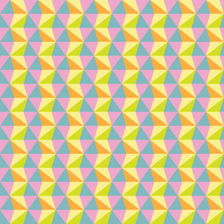 Seamless abstract colorful triangle pattern background, vector illustration