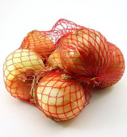sautee: Cipolle, 3 libra sacco su sfondo bianco