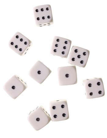 Dices on a withe isolated background with copy space Stock Photo - 5120820