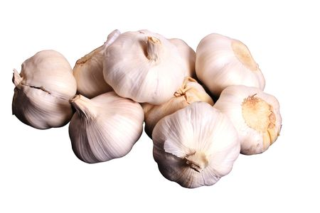 garlics: Bunch of garlic