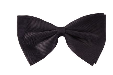 black ribbon bow: Bow tie Stock Photo