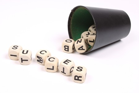 succes: The word succes formed with dices Stock Photo
