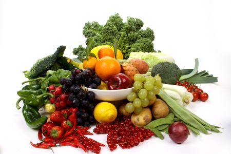 Composition of several fruits and vegetables Stock Photo - 8374420