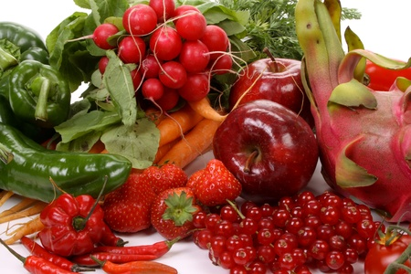 Composition of several fruits and vegetables Stock Photo - 8374429