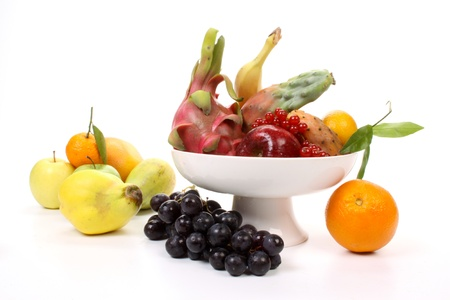 Composition of several fruits on a fruit-dish. photo