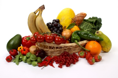 Composition of several fruits and vegetables Stock Photo - 8374448