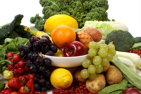Composition of several fruits and vegetables Stock Photo - 8374457