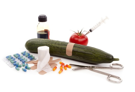 Medical analysis of a ucumber in search for the ehec bacteria Stock Photo - 9894150