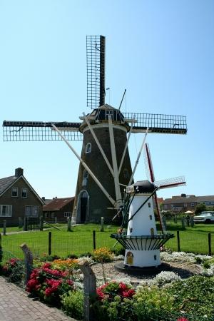 crist: windmills in holland Stock Photo