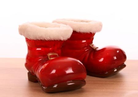 botas de navidad: Navidad botas como maceta