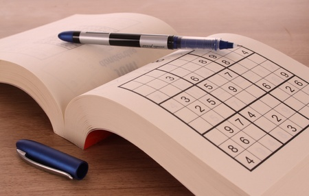 Sudoku bloc with a pen Stock Photo - 11561793