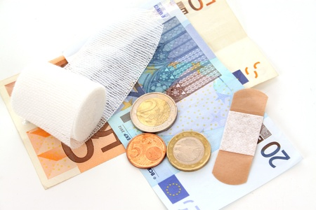 investigated: The Euro is under fire and thoroughly investigated Stock Photo