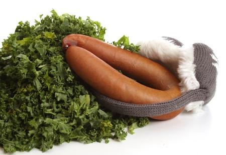 muff: Healthy fresh borecole in a typical Dutch setting