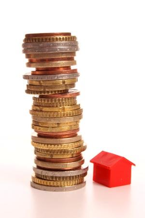 Stapel Euromunten zien Priice verhogingen