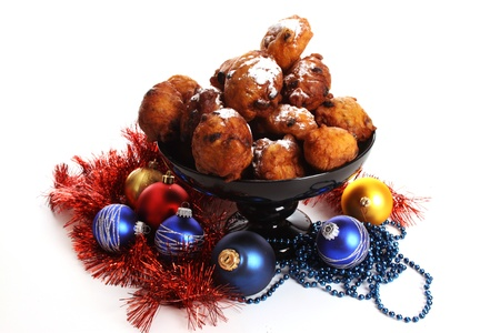 An Oliebol is typical Dutch and is only baked during te days between Christmas and New Year Stock Photo - 11561548