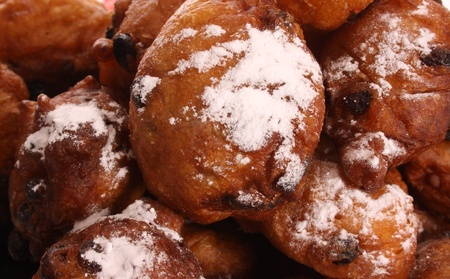 An Oliebol is typical Dutch and is only baked during te days between Christmas and New Year