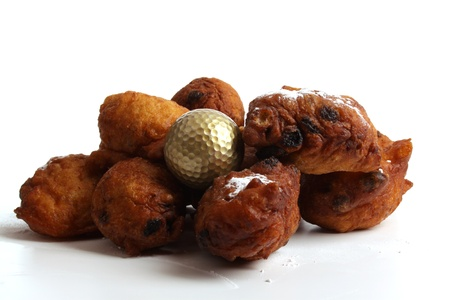 christmas golf: An Oliebol is typical Dutch and is only baked during te days between Christmas and New Year