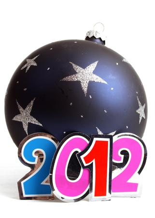 New Year 2012 and a bauble in the studio photo