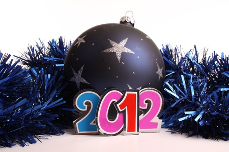 New Year 2012 and a bauble in the studio Stock Photo - 11790490