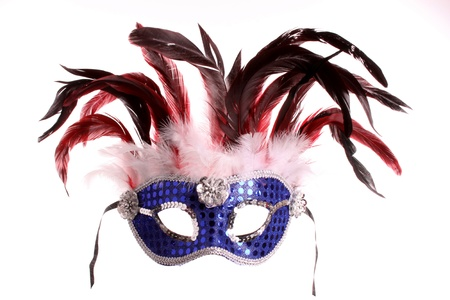 Venice mask against a white background Stock Photo