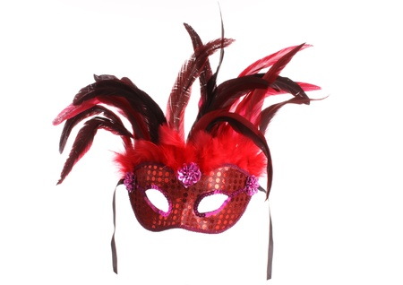 feathered: Venice mask against a white background Stock Photo