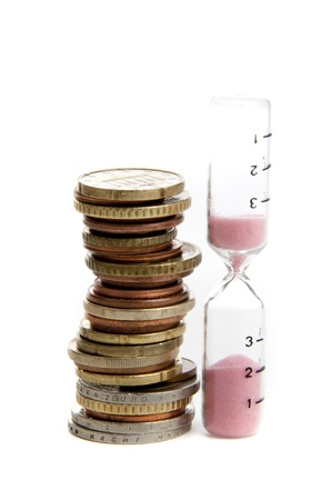 Euro under pressure in the financial world on a white background Stock Photo - 12429516