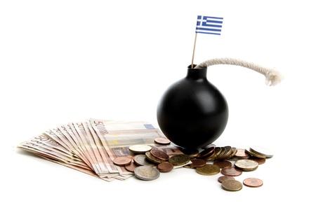 Euro onder druk in de financiële wereld op een witte achtergrond